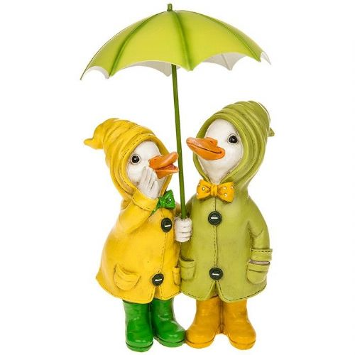 Puddle Duck Couple with Umbrella